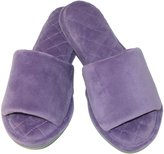 Dearfoams Women's Microfiber Velour Slide Slippers, Medium