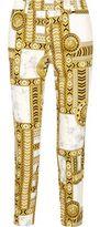 Versace Printed Cotton-Blend Skinny-Leg Pants