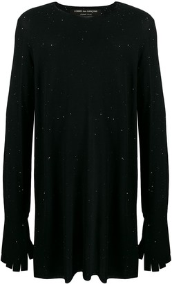 Comme des Garcons sequin oversized sweater