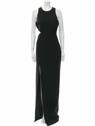 Elizabeth and James Crew Neck Long Dress Black