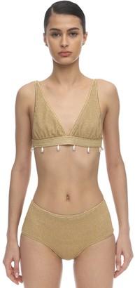 Oseree 70s Pearls Lurex & Lycra Bikini