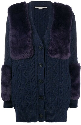 Stella McCartney Faux Fur-Trimmed Cardigan