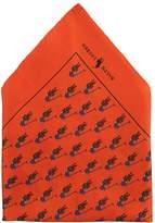 Polo Ralph Lauren BOLD POLO PLAYER POCKET SQUARE Tie orange