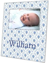 The Well Appointed House Blue Provencial Print Decoupage Photo Frame-Can Be Personalized