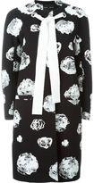 Proenza Schouler floral print tie coat