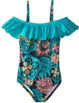 Splendid Girls' Farmhouse Floral One Piece Swimsuit (714) - 8152800