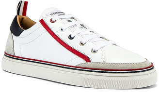 Thom Browne Leather Sneaker in White | FWRD
