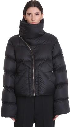 Rick Owens Mountain Duvet Clothing In Black Polyamide
