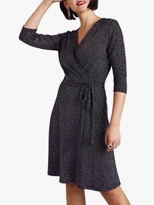 Yumi Lurex Stripe Wrap Dress, Multi