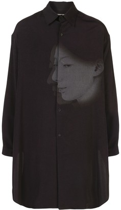 Yohji Yamamoto Face Print Oversized Shirt