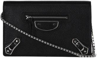 Balenciaga Chain Leather Crossbody Bag