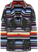 Alanui Sarape leather-fringed cardigan