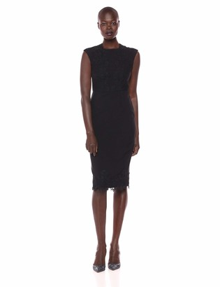 Maggy London Women's Mystic Crepe midi Sheath with lace Detail