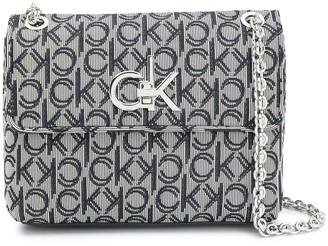 Calvin Klein Re-Lock logo shoulder bag