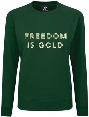 Angelika Jozefczyk Freedom Is Gold Green Sweatshirt