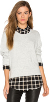 Monrow Layered Sweatshirt in Gray. - size XS (also in )