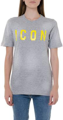 DSQUARED2 Icon Grey Cotton T-shirt