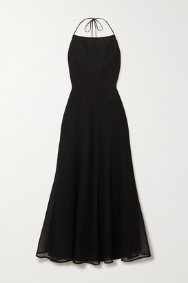 Jil Sander Gauze Halterneck Maxi Dress - Black