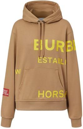 Burberry Beige Horseferry Logo Hoodie
