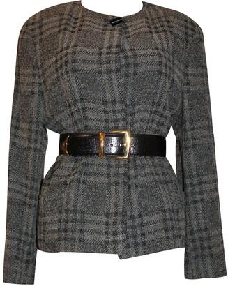 Basile Grey Wool Jacket for Women Vintage