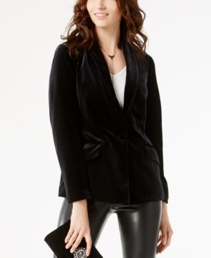 INC International Concepts Inc Petite Velvet Blazer, Created for Macy's