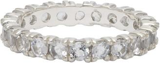 Hatton Labs Silver Topaz Eternity Ring