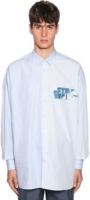 Etro Striped & Printed Cotton Shirt