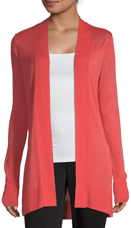 Liz Claiborne Long Sleeve Cardigan - Tall