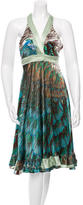 Roberto Cavalli Silk Printed Wrap Dress