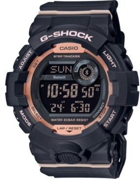 G-Shock Women's Digital Power Trainer Black Resin Strap Watch 45.2mm