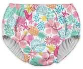 I Play Baby Girls' Tropical Medley Reusable Swim Diaper - White