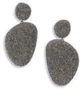 Adriana Orsini Pave Pebble Drop Earrings