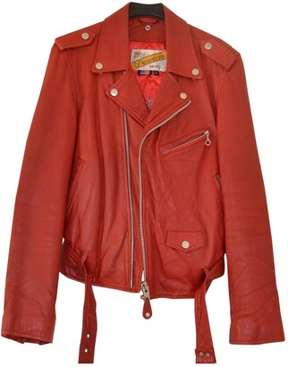 Schott Red Leather Leather jackets