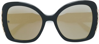 Elie Saab Trim Detail Oversized Sunglasses