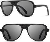 Shwood Men's 'Medford' 56Mm Polarized Wood Sunglasses - Dark Walnut/ Grey