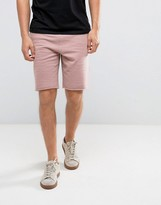 New Look New Look Jersey Shorts In Dark Pink