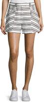A.L.C. Hamilton Striped Shorts, Ivory/Black