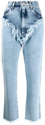 Natasha Zinko High Rise Raw Edge Jeans