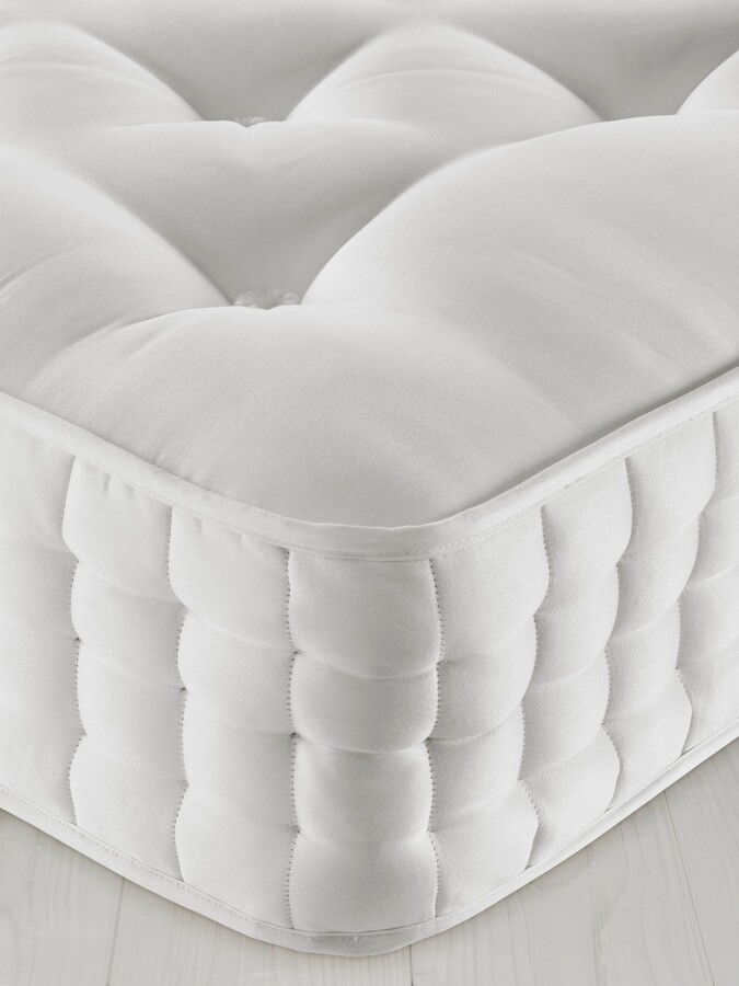 John Lewis & Partners Natural Collection Wensleydale Wool 13400, Super King Size, Firm Tension Pocket Spring Mattress