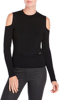 Ivanka Trump Cold Shoulder Ribbed Sweater