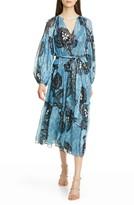 Ulla Johnson Indra Long Sleeve Clip Dot Midi Dress