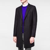 Paul Smith Men's Navy Wool-Cashmere Blend Overcoat