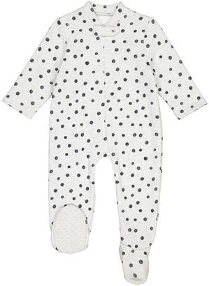 La Redoute Collections Polka Dot Fleece Onesie, Birth-3 Years