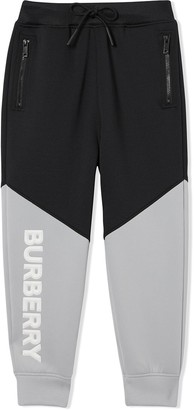 Burberry logo two-tone trousers