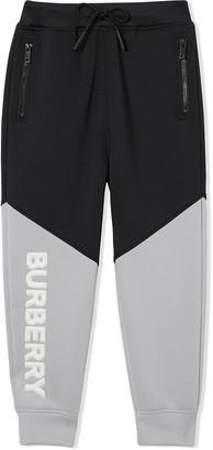 BURBERRY KIDS Logo Two-Tone Trousers