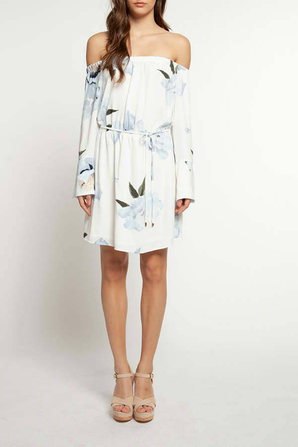 Dex Floral OTS 3/4 Sleeve Dress