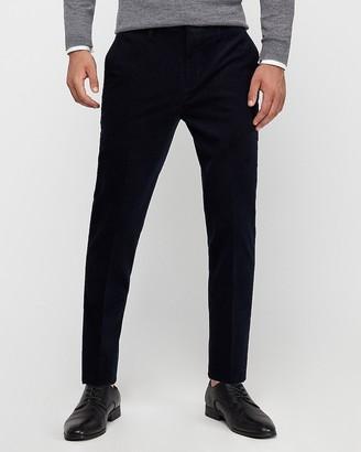Express Slim Navy Corduroy Suit Pant