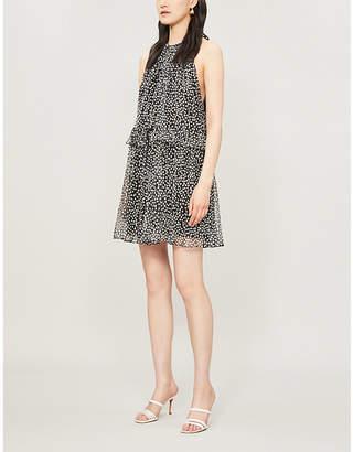 Stella McCartney Polka-dot sleeveless silk-blend mini dress