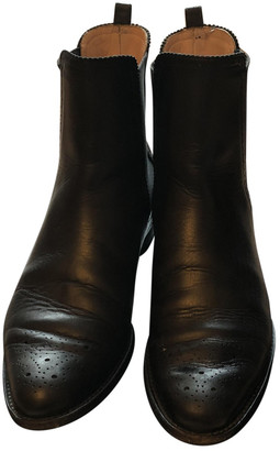 Unützer Black Leather Ankle boots