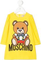 Moschino Kids - teddy bear and logo print dress - kids - Polyester/Spandex/Elastane - 18 mth